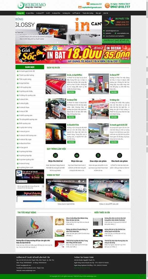 Thiết kế Mẫu website in ấn 12