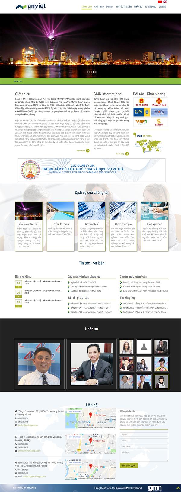 Thiết kế Mẫu Website Kế Toán KT01
