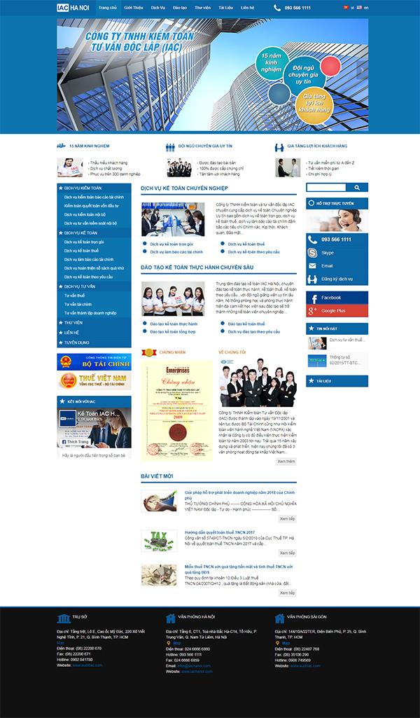 Thiết kế Mẫu Website Kế Toán KT02
