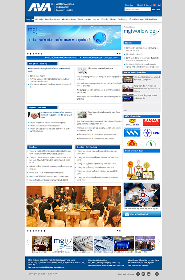 Thiết kế Mẫu Website Kế Toán KT06
