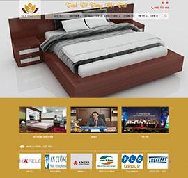 Thiết kế Mẫu website kiến trúc nội thấ't KTNT07
