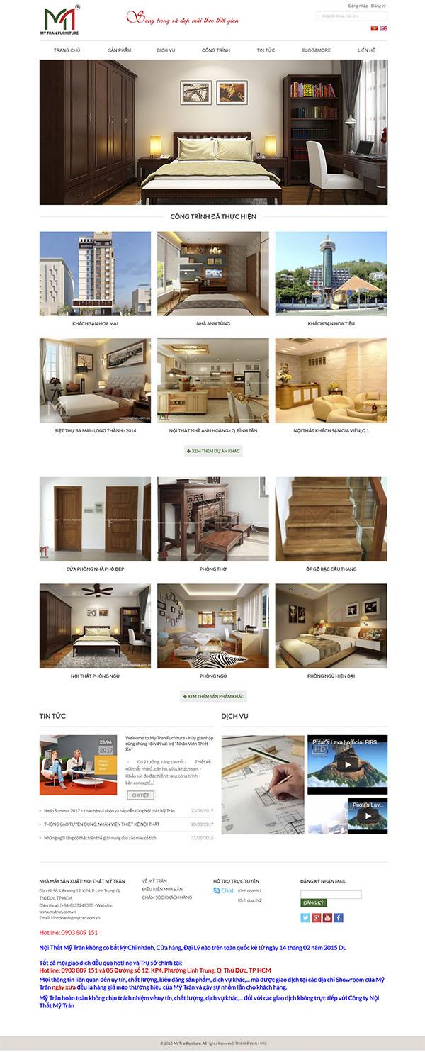 Thiết kế Mẫu website kiến trúc nội thất KTNT08