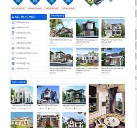 Mẫu website kiến trúc nội thất KTNT16