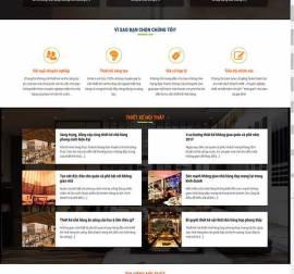 Mẫu website kiến trúc nội thất KTNT17