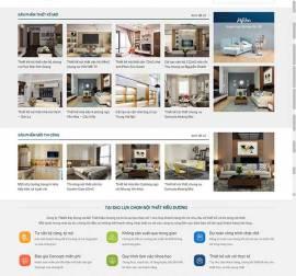 Mẫu website kiến trúc nội thất KTNT18