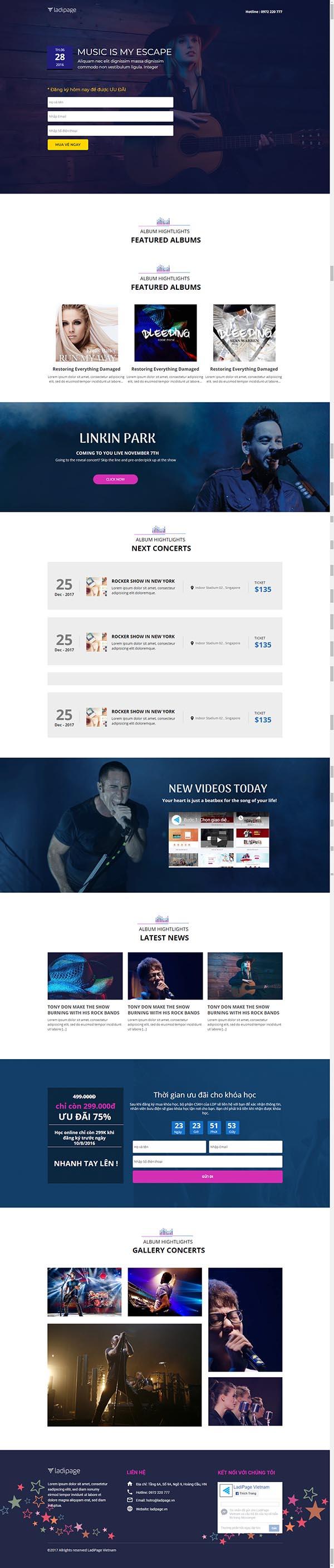 Thiết kế Mẫu website Landing Page 03