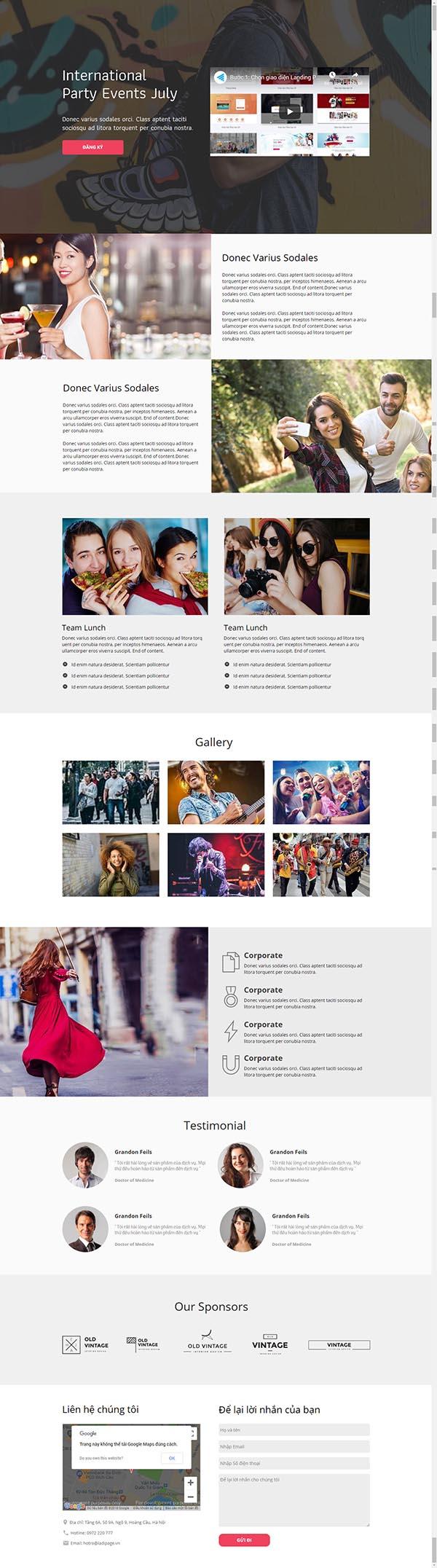 Thiết kế Mẫu website Landing Page 04