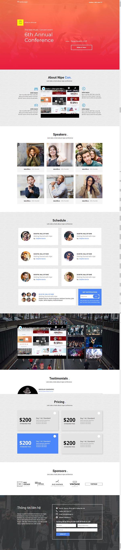 Thiết kế Mẫu website Landing Page 06