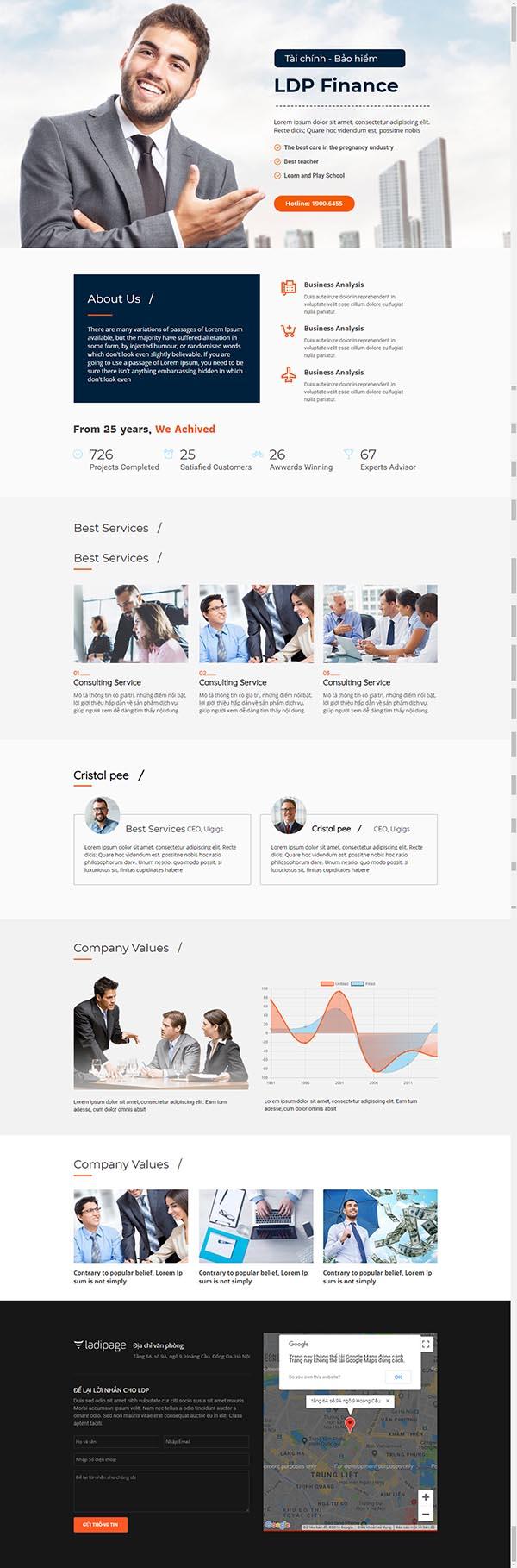 Thiết kế Mẫu website Landing Page 09