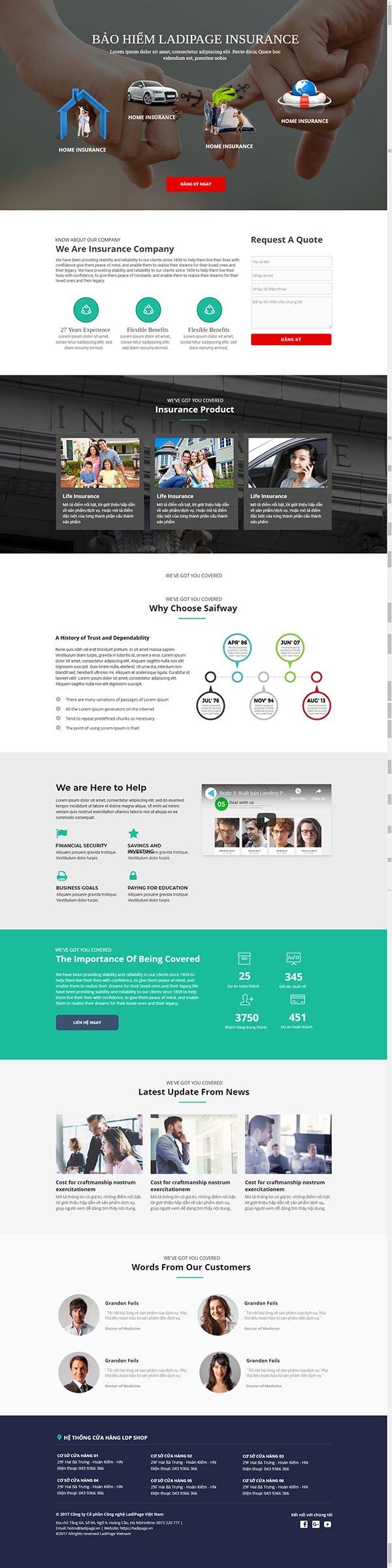 Thiết kế Mẫu website Landing Page 11
