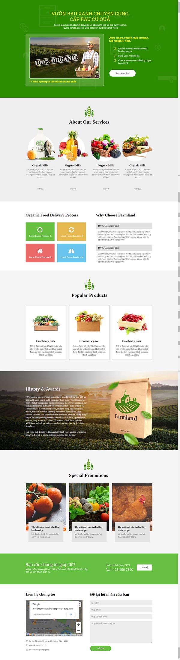 Thiết kế Mẫu website Landing Page 14