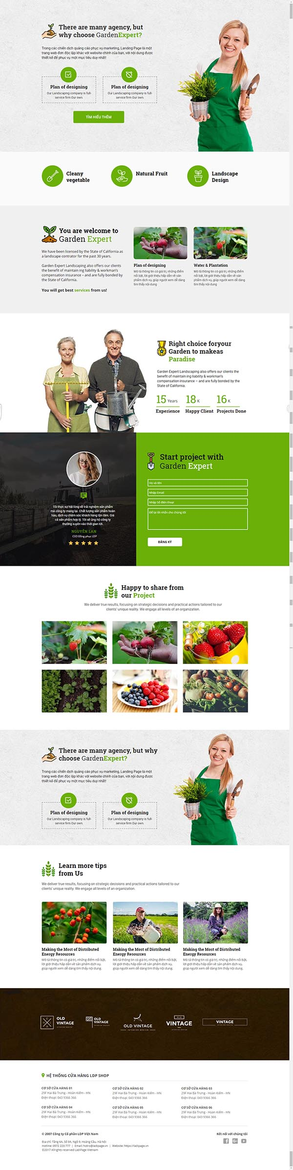 Thiết kế Mẫu website Landing Page 15