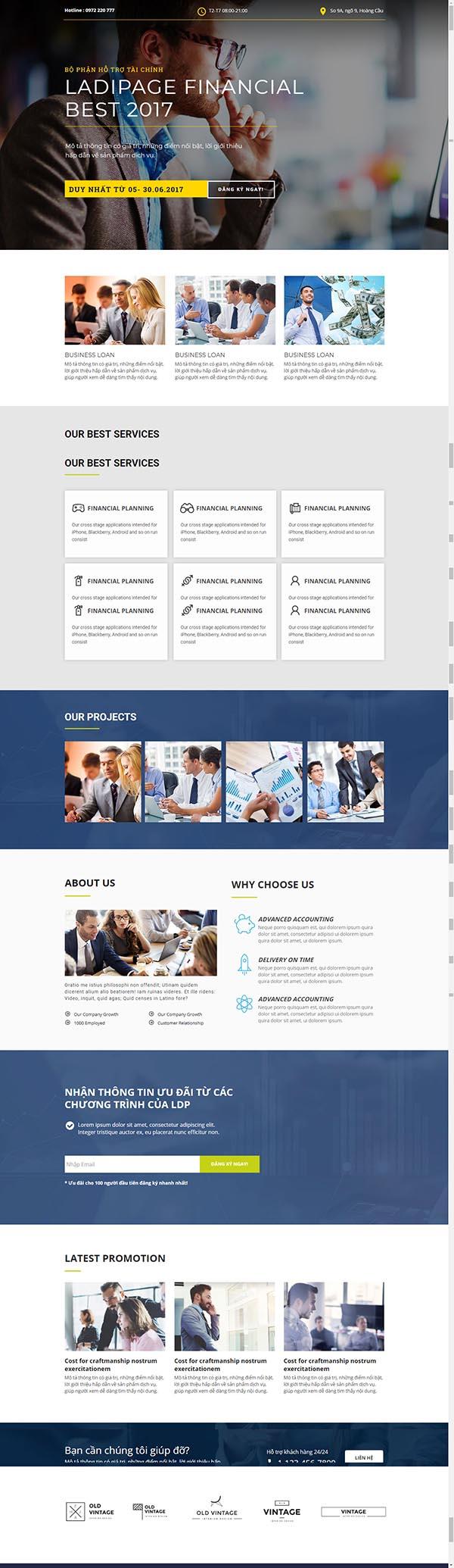 Thiết kế Mẫu website Landing Page 16