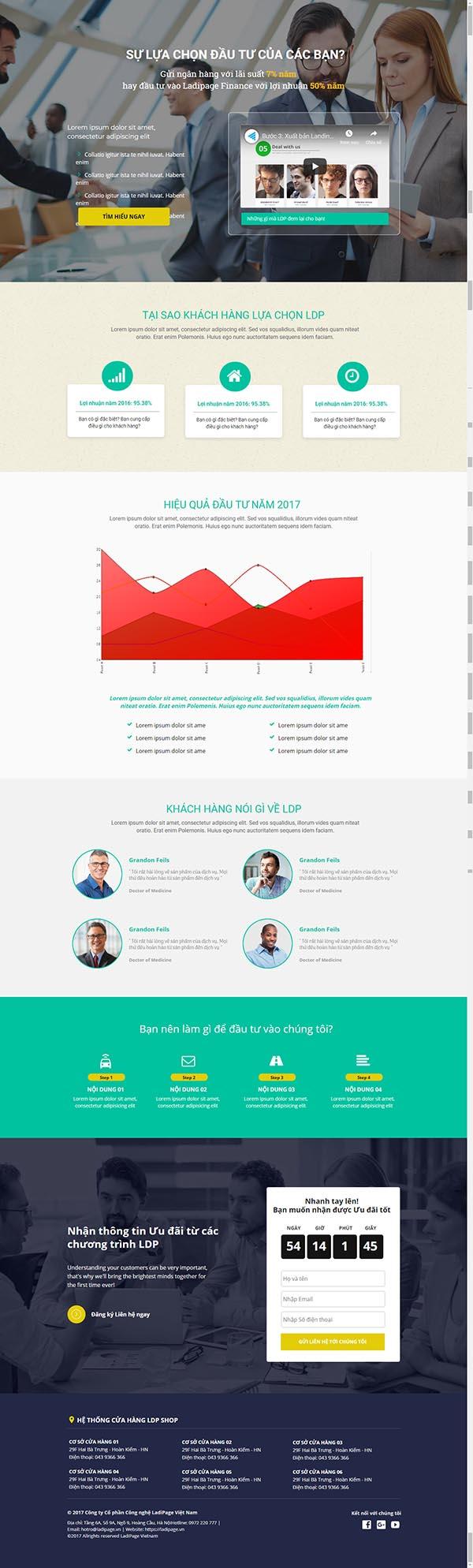 Thiết kế Mẫu website Landing Page 17