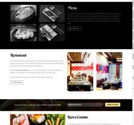 Mẫu website nhà hàng khách sạn 13