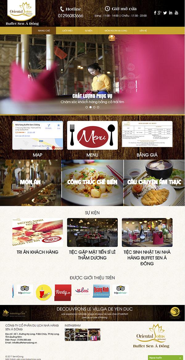 Thiết kế Mẫu website nhà hàng khách sạn NHKS03
