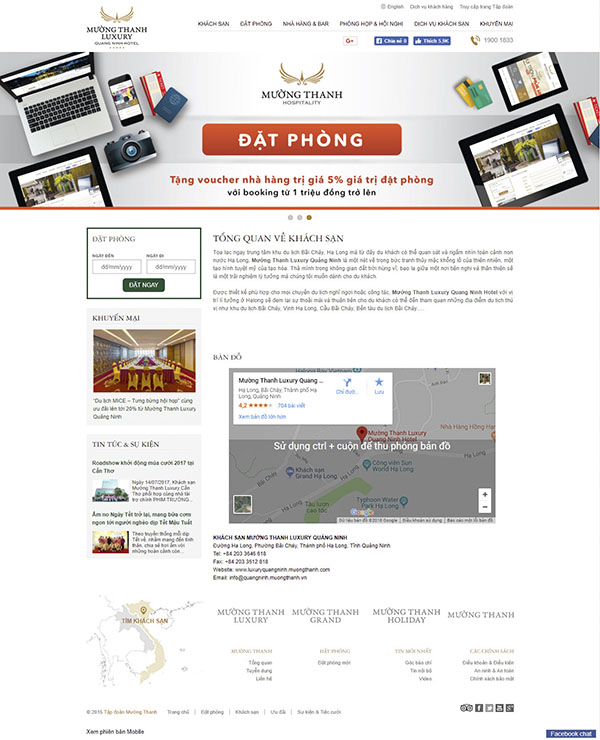 Thiết kế Mẫu website nhà hàng khách sạn NHKS09