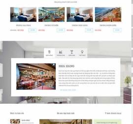 Mãu website nhà hàng khách sạn NHKS12