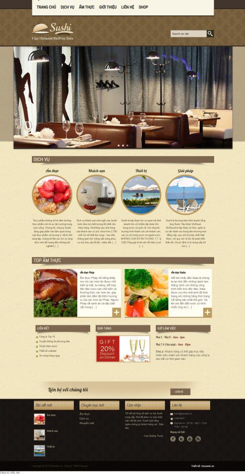 Mẫu website nhà hàng khách sạn NHKS14