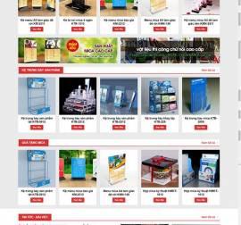 Mẫu website những sản phẩm Mica 01