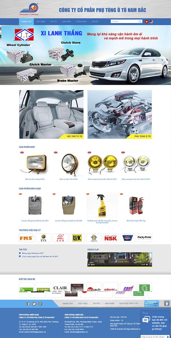 Thiết kế Mẫu website ô tô xe máy OTXM05