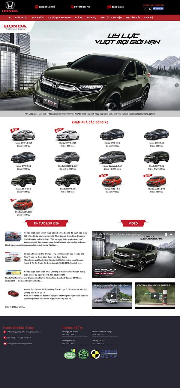 Thiết kế Mẫu website ô tô xe máy OTXM09