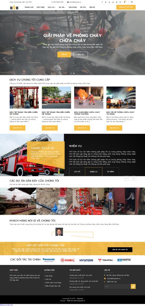 Mẫu website phòng cháy chữa cháy 01