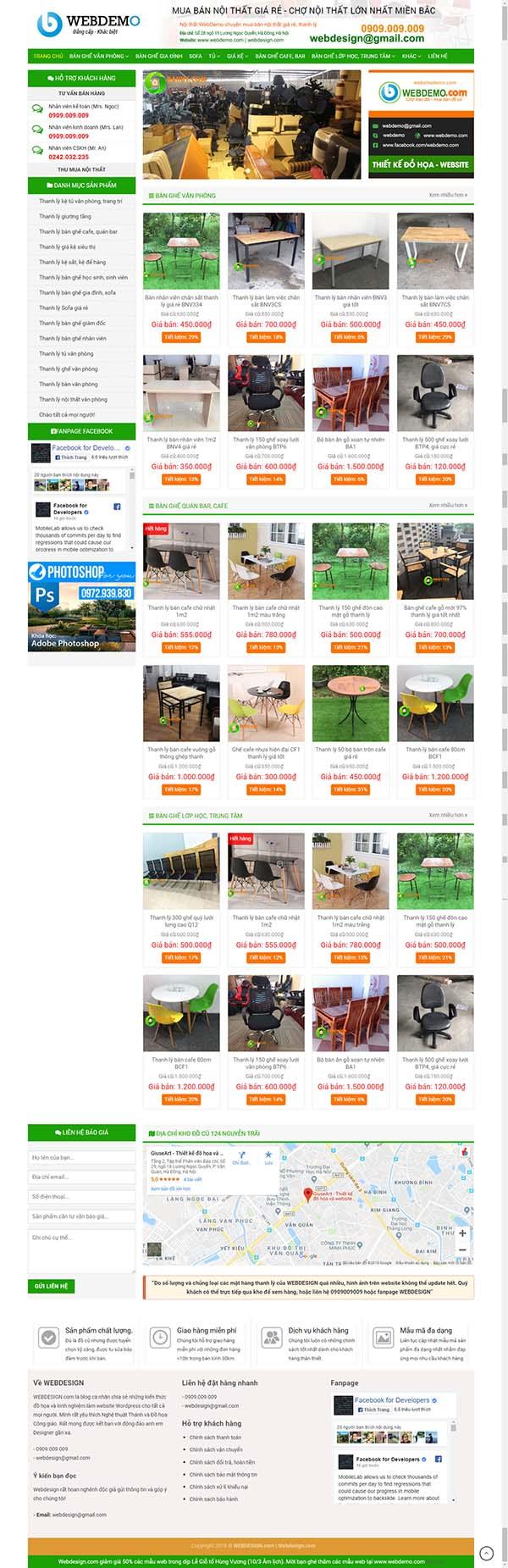 Thiết kế Mẫu website rao vặt 01
