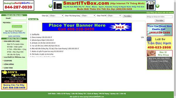 Thiết kế Mẫu website rao vặt RV04