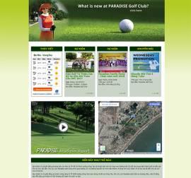 Mẫu Website Sân Golf SG04