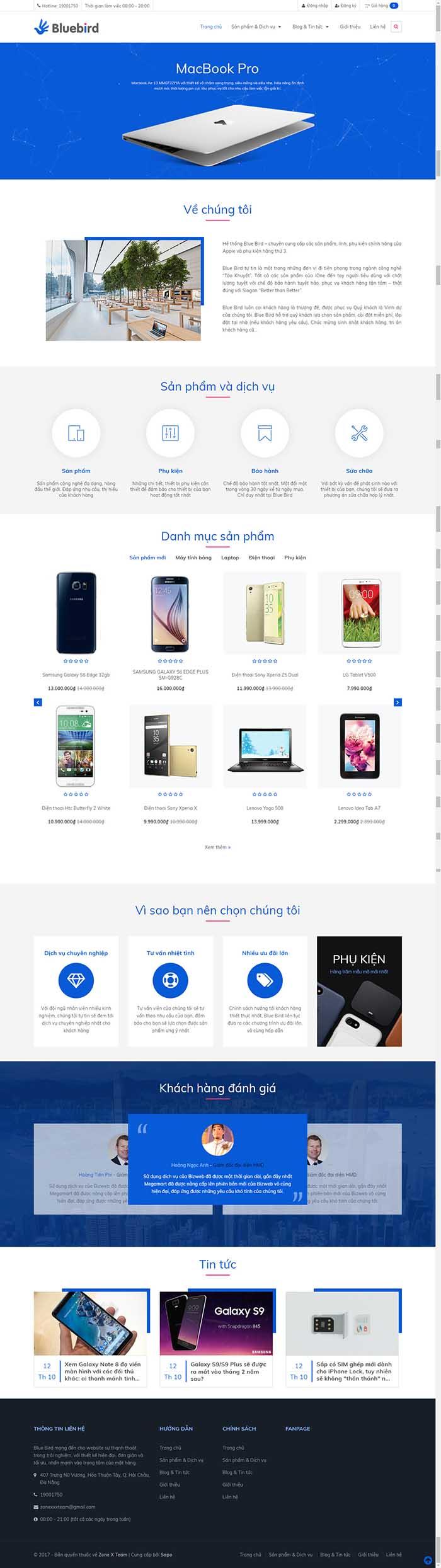 Thiết kế Mẫu website siêu thị điện máy DM16