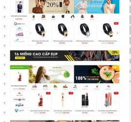 Mẫu website siêu thị  điện máy DM19