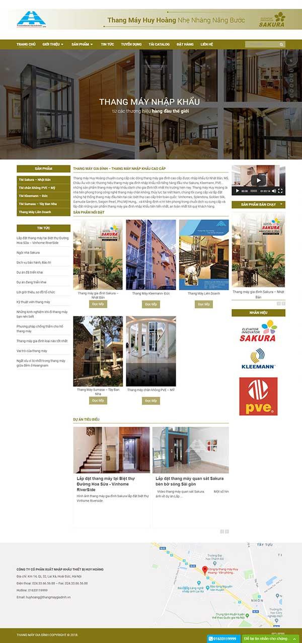 Thiết kế Mẫu website thang máy 07