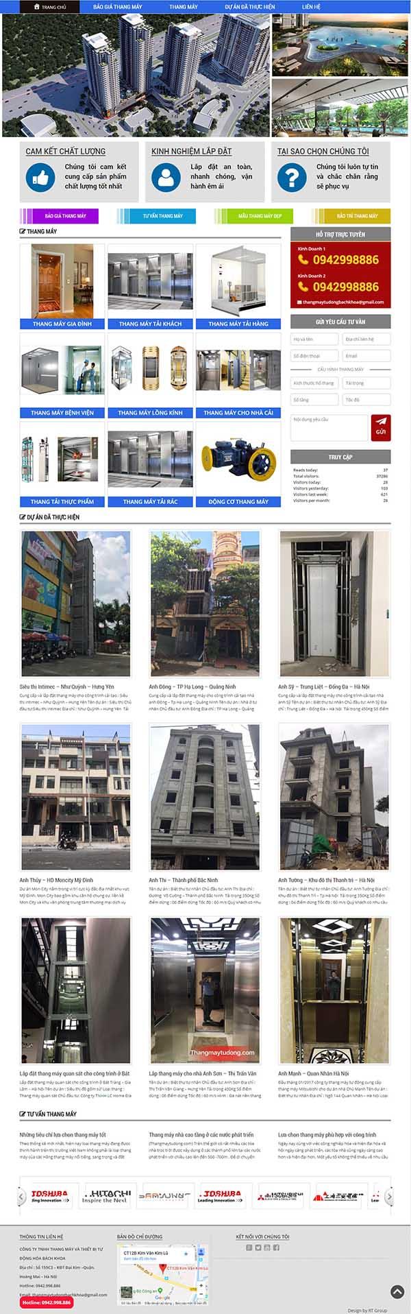 Thiết kế Mẫu website thang máy 09