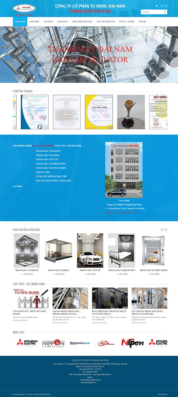 Thiết kế Mẫu Website Thang Máy TM01