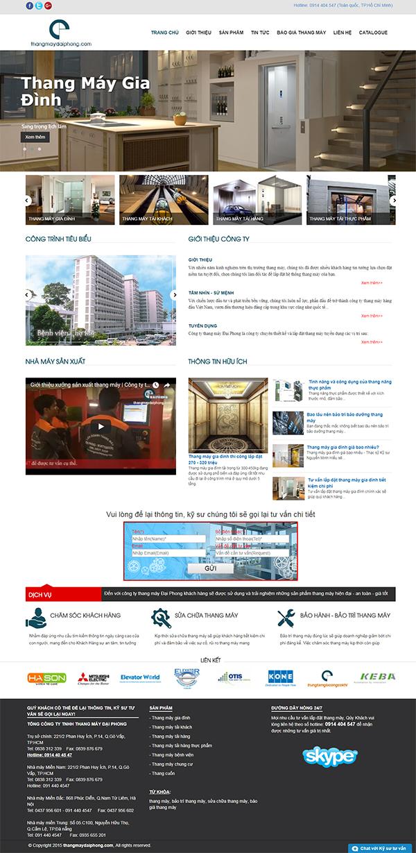 Thiết kế Mẫu Website Thang Máy TM02