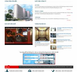 Mẫu Website Thang Máy TM02