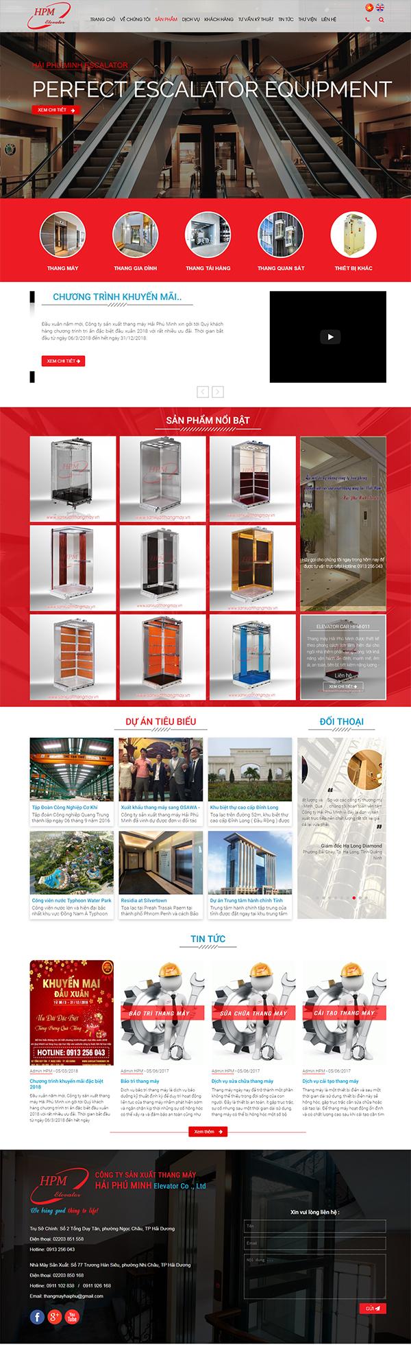 Thiết kế Mẫu Website Thang Máy TM03