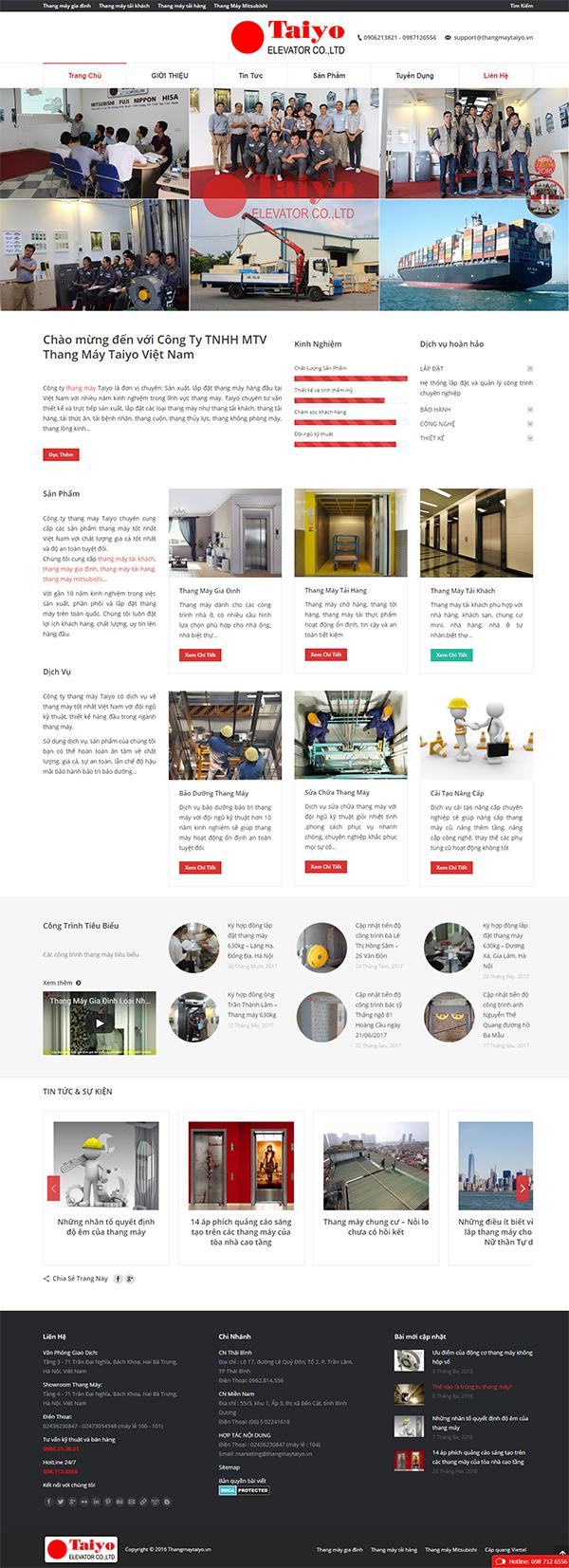 Thiết kế Mẫu Website Thang Máy TM05
