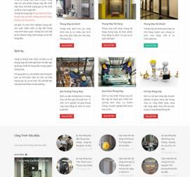 Mẫu Website Thang Máy TM05