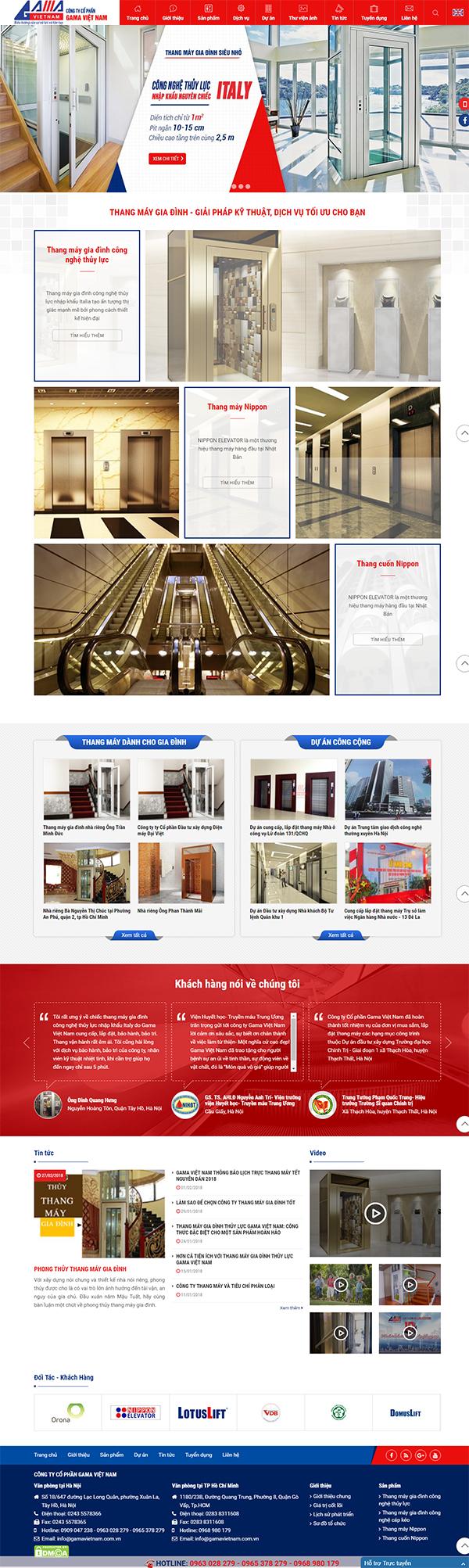 Thiết kế Mẫu Website Thang Máy TM06