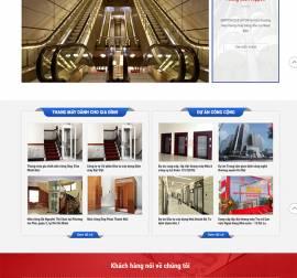 Mẫu Website Thang Máy TM06