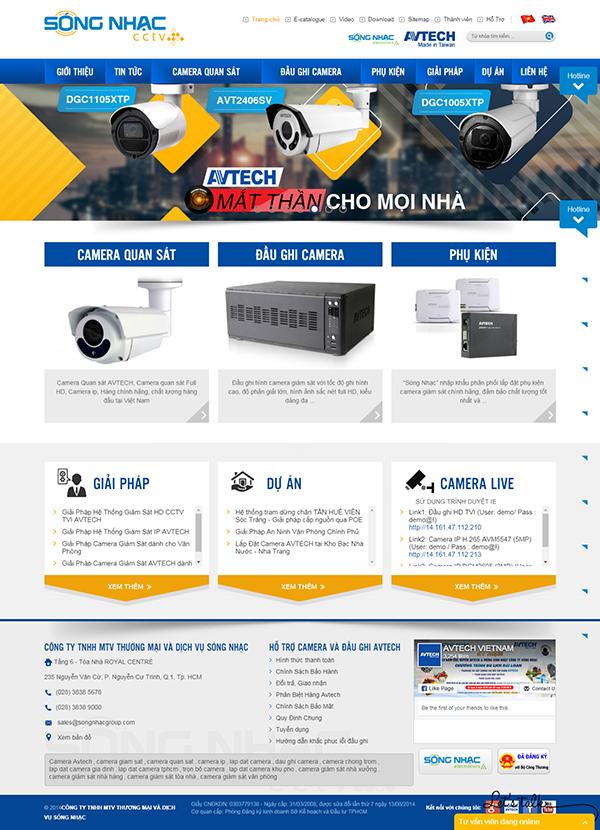 Thiết kế Mẫu website thiết bị an ninh 02