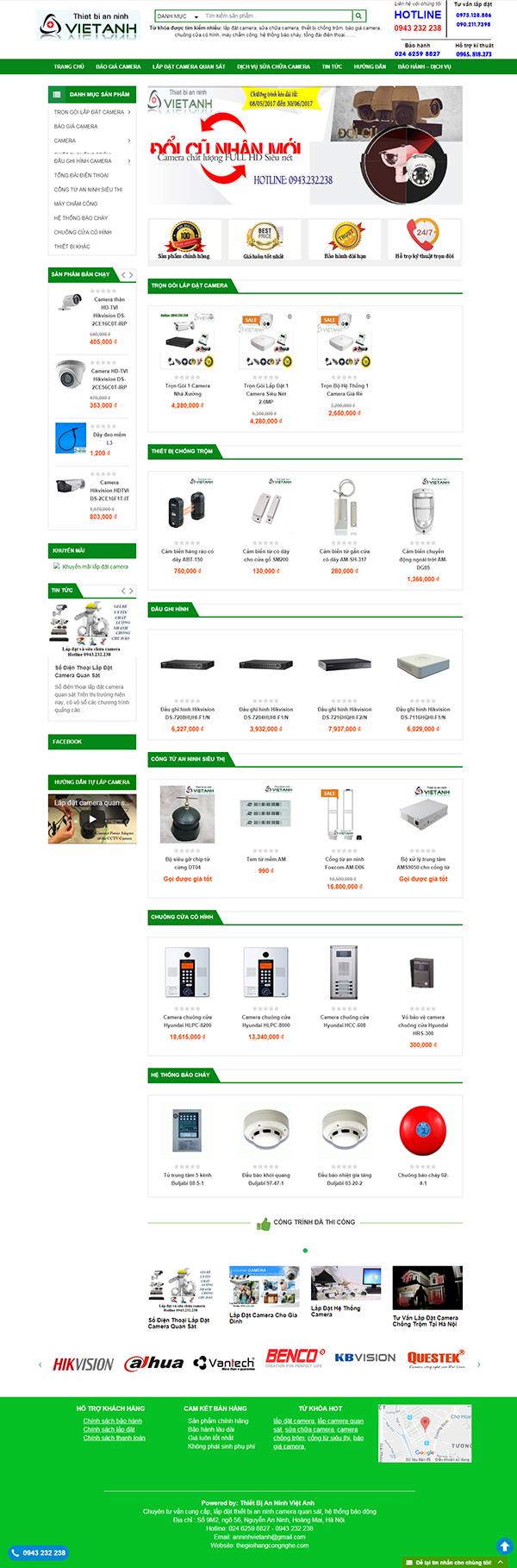 Thiết kế Mẫu website thiết bị an ninh 03
