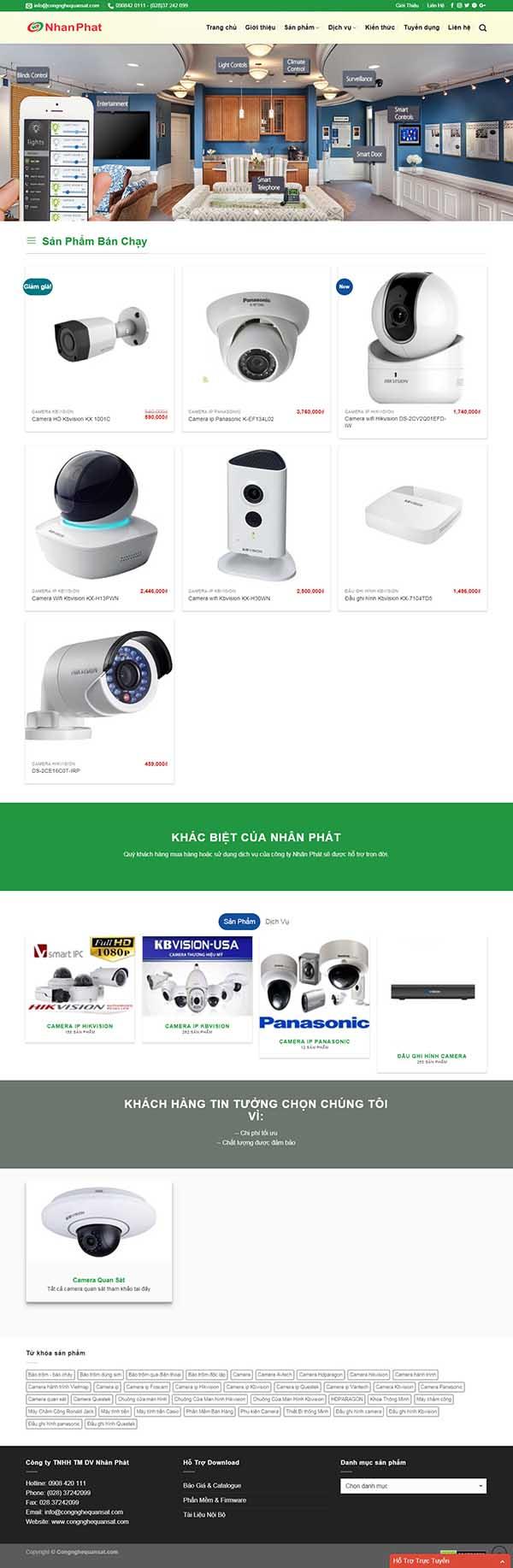 Thiết kế Mẫu website thiết bị an ninh 05