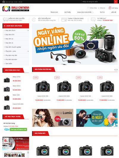 Thiết kế Mẫu website thiết bị an ninh 07