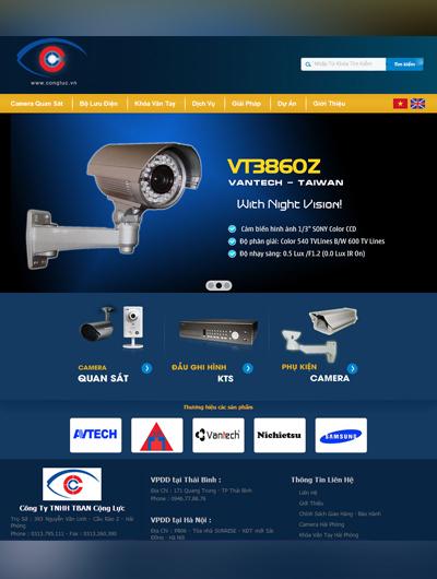 Thiết kế Mẫu website thiết bị an ninh 09