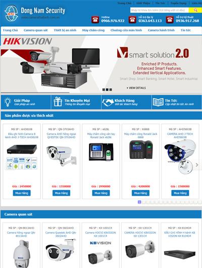 Thiết kế Mẫu website thiết bị an ninh 11