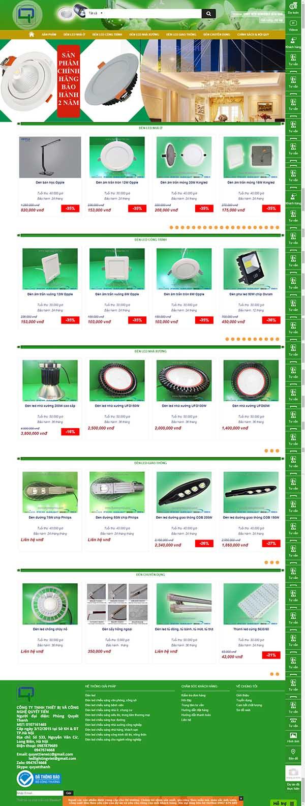 Thiết kế Mẫu website thiết bị điện 06