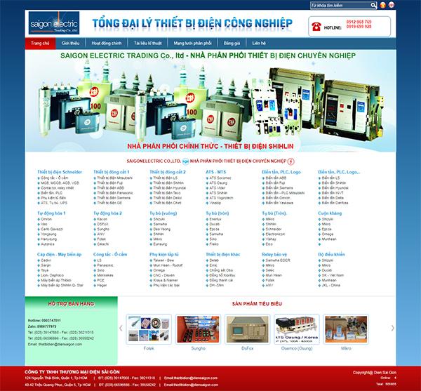 Thiết kế Mẫu Website Thiết Bị Điện TBD01